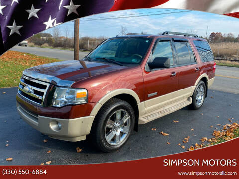 2007 Ford Expedition for sale at SIMPSON MOTORS in Youngstown OH