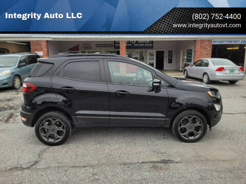 2018 Ford EcoSport for sale at Integrity Auto LLC - Integrity Auto 2.0 in St. Albans VT