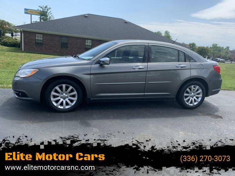 2013 Chrysler 200 for sale at Elite Motor Cars in Burlington NC