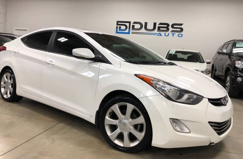 2013 Hyundai Elantra for sale at DUBS AUTO LLC in Clearfield UT