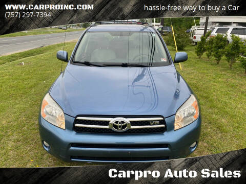 2008 Toyota RAV4 for sale at Carpro Auto Sales in Chesapeake VA