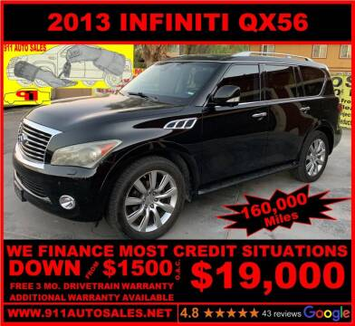 2013 Infiniti QX56 for sale at 911 AUTO SALES LLC in Glendale AZ