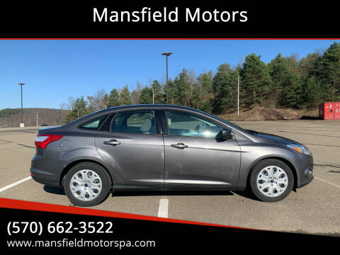 2012 Ford Focus for sale at Mansfield Motors in Mansfield PA