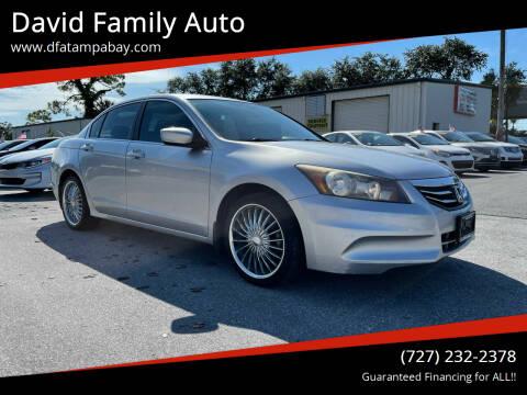 2011 Honda Accord for sale at David Family Auto, Inc. in New Port Richey FL