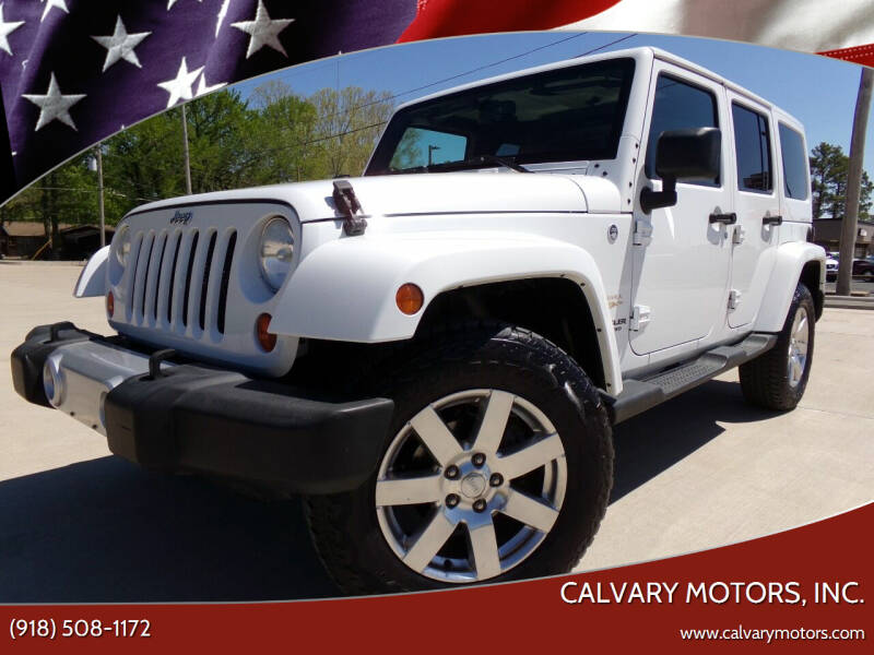 2013 Jeep Wrangler Unlimited for sale at Calvary Motors, Inc. in Bixby OK