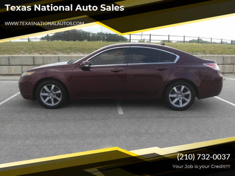 2012 Acura TL for sale at Texas National Auto Sales in San Antonio TX