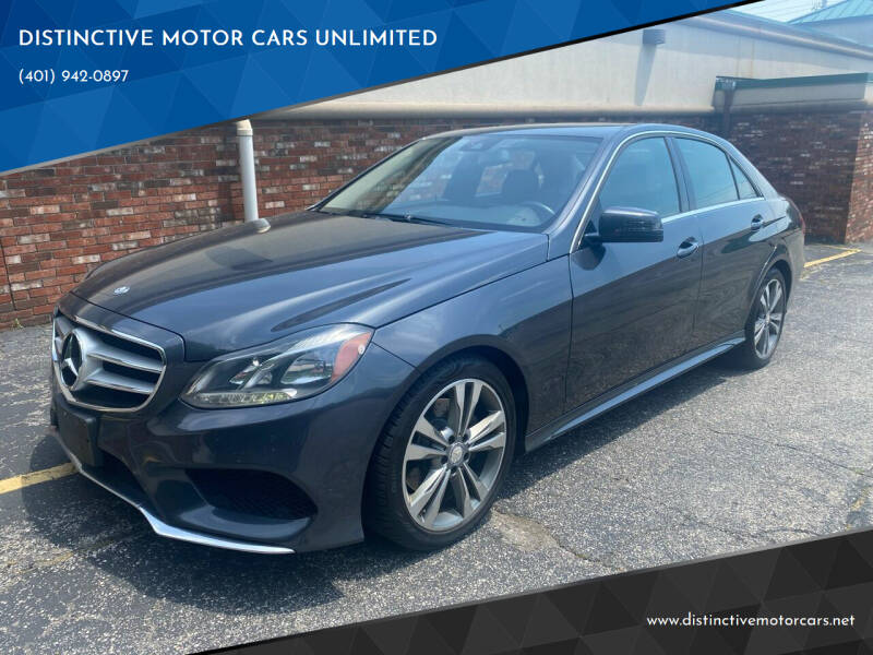 2014 Mercedes-Benz E-Class for sale at DISTINCTIVE MOTOR CARS UNLIMITED in Johnston RI