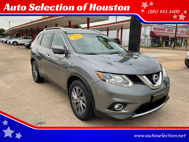 2016 Nissan Rogue for sale at Auto Selection of Houston in Houston TX