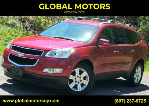 2012 Chevrolet Traverse for sale at GLOBAL MOTORS in Binghamton NY