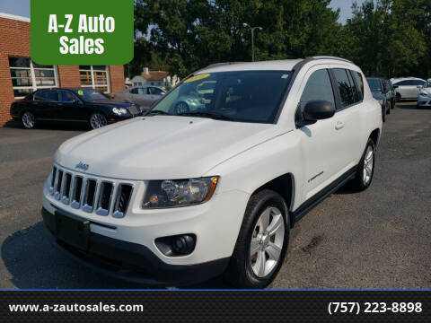 2016 Jeep Compass for sale at A-Z Auto Sales in Newport News VA
