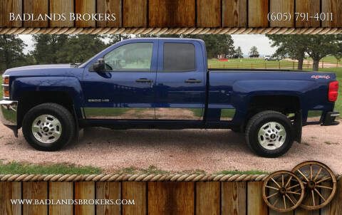 2015 Chevrolet Silverado 2500HD for sale at Badlands Brokers in Rapid City SD