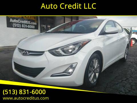 2015 Hyundai Elantra for sale at Auto Credit LLC in Milford OH