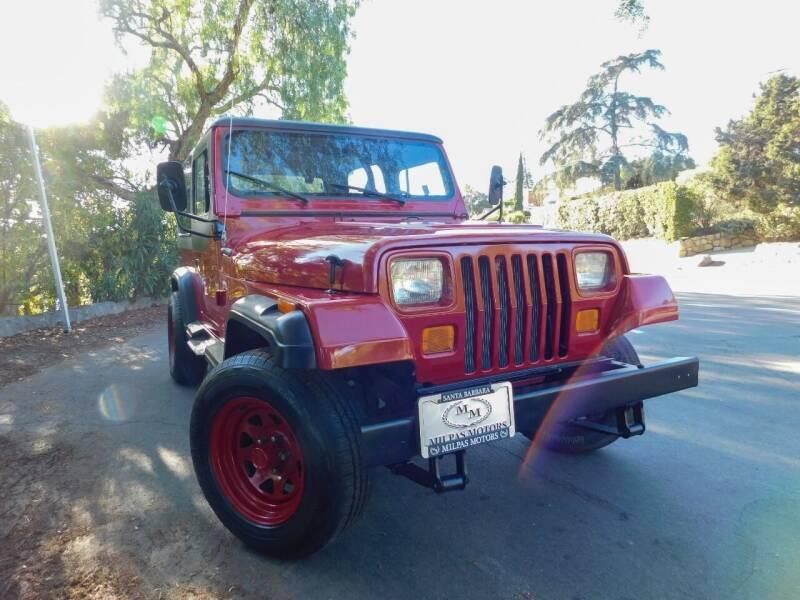 1987 Jeep Wrangler for sale at Milpas Motors in Santa Barbara CA