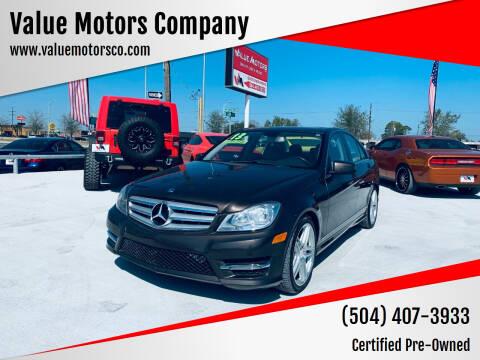 2013 Mercedes-Benz C-Class for sale at Value Motors Company in Marrero LA