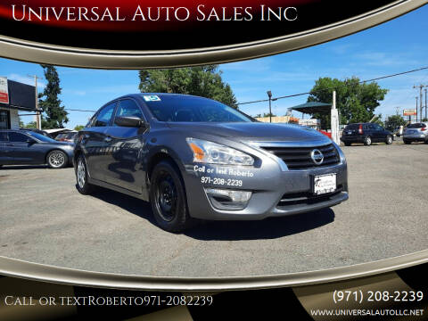 2015 Nissan Altima for sale at Universal Auto Sales Inc in Salem OR
