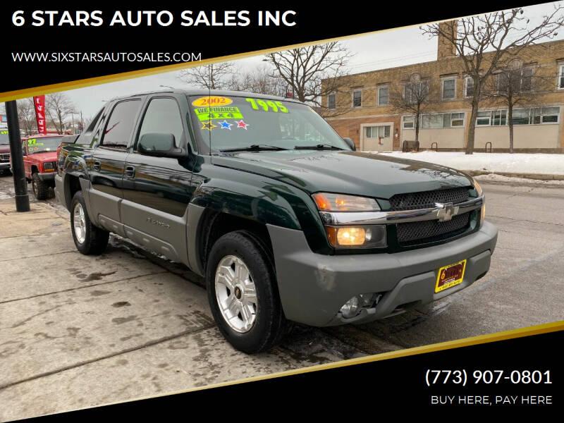 2002 Chevrolet Avalanche for sale at 6 STARS AUTO SALES INC in Chicago IL