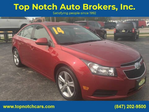 2014 Chevrolet Cruze for sale at Top Notch Auto Brokers, Inc. in Palatine IL