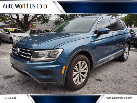 2018 Volkswagen Tiguan for sale at Auto World US Corp in Plantation FL