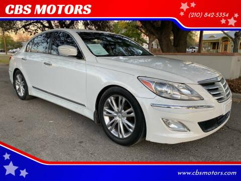 2012 Hyundai Genesis for sale at CBS MOTORS in San Antonio TX