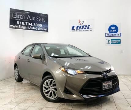 2018 Toyota Corolla for sale at Elegant Auto Sales in Rancho Cordova CA