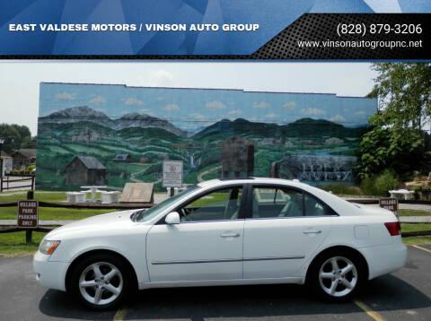 2008 Hyundai Sonata for sale at EAST VALDESE MOTORS / VINSON AUTO GROUP in Valdese NC