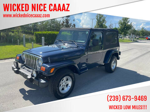 2006 Jeep Wrangler for sale at WICKED NICE CAAAZ in Cape Coral FL