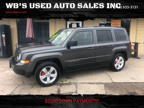 2016 Jeep Patriot for sale at WB'S USED AUTO SALES INC in Houston TX