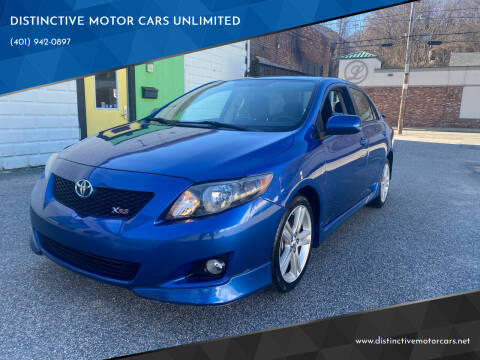 2009 Toyota Corolla for sale at DISTINCTIVE MOTOR CARS UNLIMITED in Johnston RI
