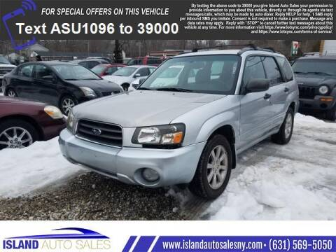 2005 Subaru Forester for sale at Island Auto Sales in E.Patchogue NY