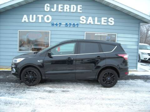 2017 Ford Escape for sale at GJERDE AUTO SALES in Detroit Lakes MN