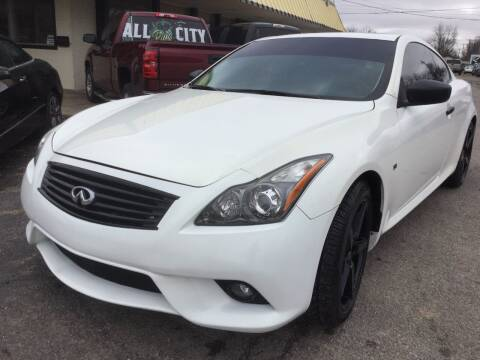 2014 Infiniti Q60 Coupe for sale at LOWEST PRICE AUTO SALES, LLC in Oklahoma City OK