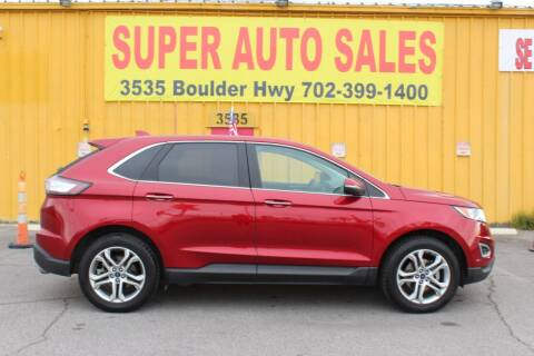 2015 Ford Edge for sale at Super Auto Sales in Las Vegas NV