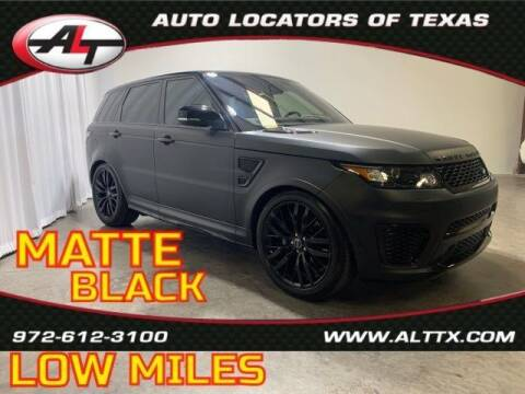 2017 Land Rover Range Rover Sport for sale at AUTO LOCATORS OF TEXAS in Plano TX