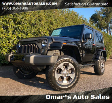 2015 Jeep Wrangler for sale at Omar's Auto Sales in Martinez GA