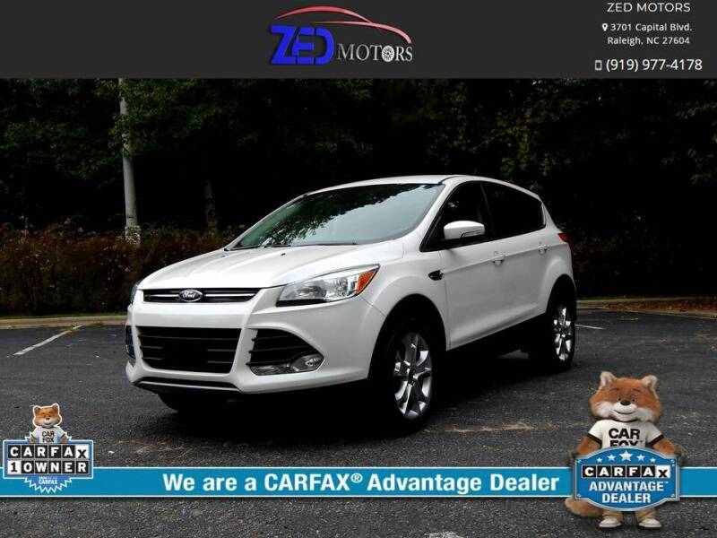 2013 Ford Escape for sale at Zed Motors in Raleigh NC