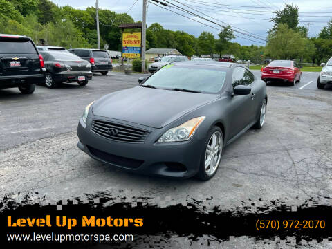 2009 Infiniti G37 Coupe for sale at Level Up Motors in Tobyhanna PA
