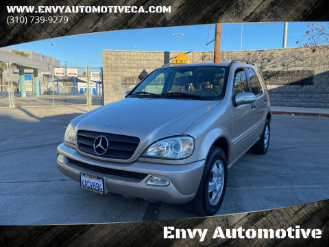 2003 Mercedes-Benz M-Class for sale at Envy Automotive in Studio City CA