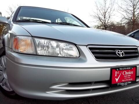 2001 Toyota Camry for sale at 1st Choice Auto Sales in Fairfax VA