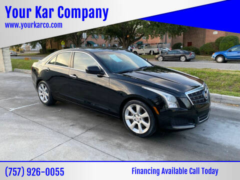 2013 Cadillac ATS for sale at Your Kar Company in Norfolk VA