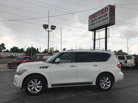 2014 Infiniti QX80 for sale at United Auto Sales in Oklahoma City OK