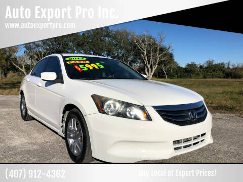 2012 Honda Accord for sale at Auto Export Pro Inc. in Orlando FL