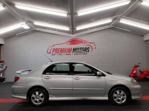 2006 Toyota Corolla for sale at Premium Motors in Villa Park IL