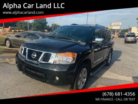 2010 Nissan Armada for sale at Alpha Car Land LLC in Snellville GA