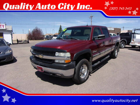 2002 Chevrolet Silverado 2500HD for sale at Quality Auto City Inc. in Laramie WY