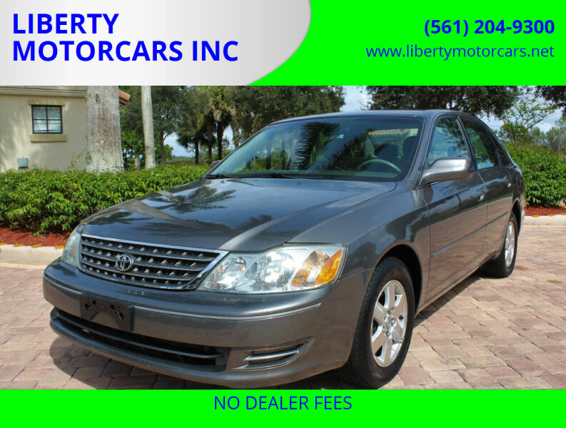 2004 Toyota Avalon for sale at LIBERTY MOTORCARS INC in Royal Palm Beach FL