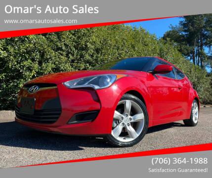 2013 Hyundai Veloster for sale at Omar's Auto Sales in Martinez GA