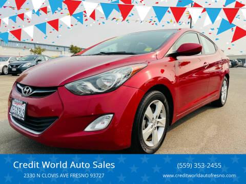 2013 Hyundai Elantra for sale at Credit World Auto Sales in Fresno CA