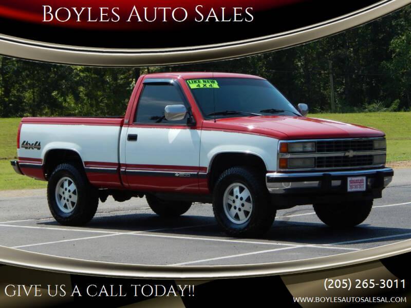 1990 Chevrolet C/K 1500 Series for sale at Boyles Auto Sales in Jasper AL