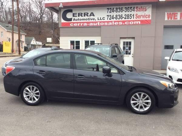 2014 Subaru Impreza for sale at Cerra Automotive LLC in Greensburg PA