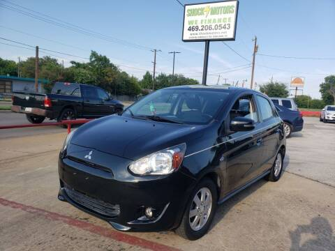 2015 Mitsubishi Mirage for sale at Shock Motors in Garland TX